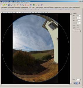 Angeschnittener Bildkreis Fischaugenobjektiv Sigma 8 mm/f3.5