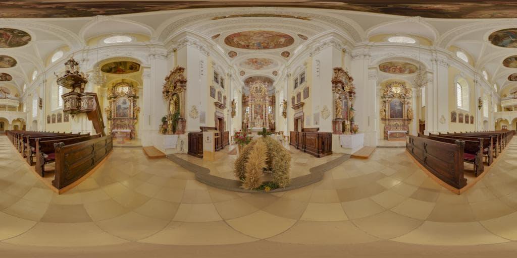 Pano2VR-Panorama der Pfarrkirche Maria Himmelfahrt in Kallham