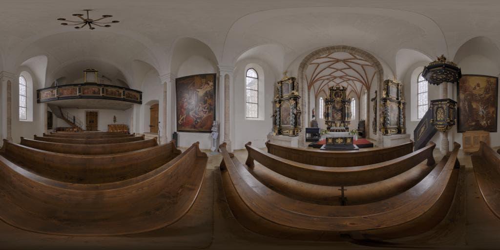 Die Kirche auf dem Magdalenaberg als 360°-Panorama