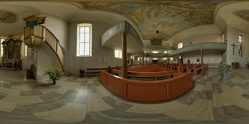 Kirchen-Panorama der St.-Johanniskirche Mainbernheim