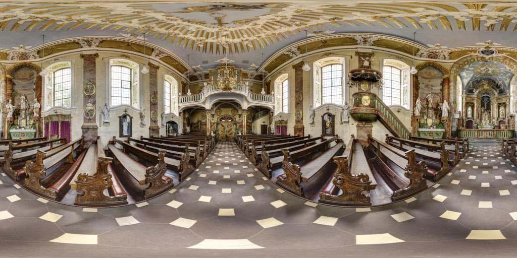 Tolles Panorama von Sankt Matthäus in Rittershausen