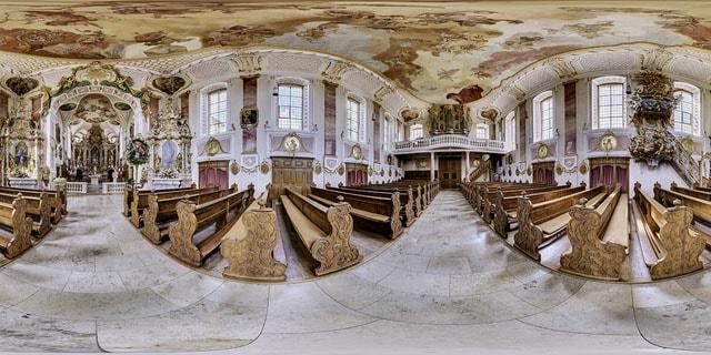 Kugelpano der barocken Schutzengelkirche in Gaukönigshofen