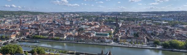 Panoramafoto von Würzburg