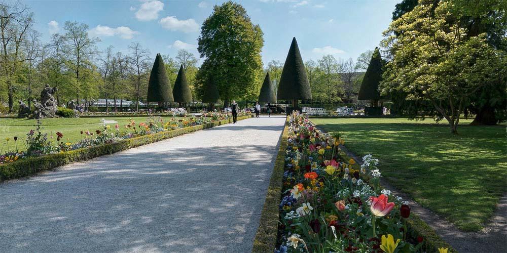 Residenzgarten und Hofgarten von Wuerzburg