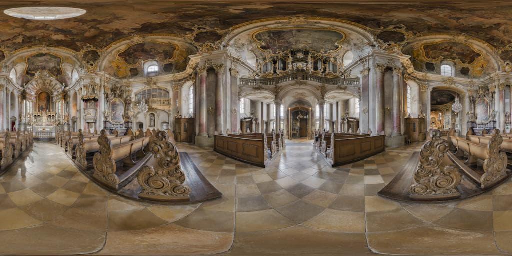 Würzburger Käppele zu bestaunen als 360°-Panorama